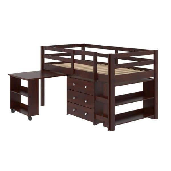 Donco Kids Cappuccino Twin Low Loft Bed   The Home Depot