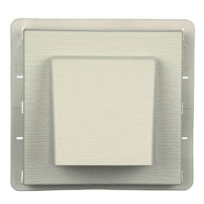 8 in. x 7.875 in. Water Management 4 in. Hooded Vent in #082 Linen