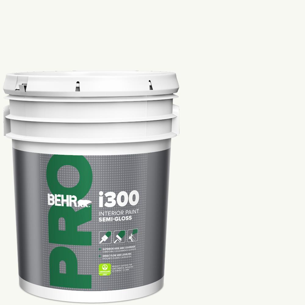 5 gal. #PPU18-06 Ultra Pure White Semi-Gloss Interior Paint