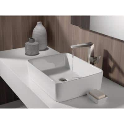 Trillian Single Hole Single-Handle Vessel Bathroom Faucet in Stainless