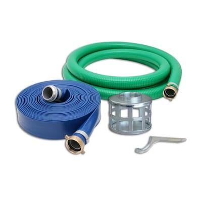 4 in. Trash Water Pump Hose Kit