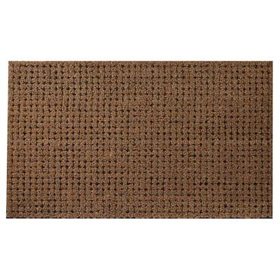 Welcome Mat Brown 30 in. x 18 in. Coir Cluster Door Mat
