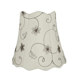 16 in. x 15 in. Off White Scallop Bell Lamp Shade