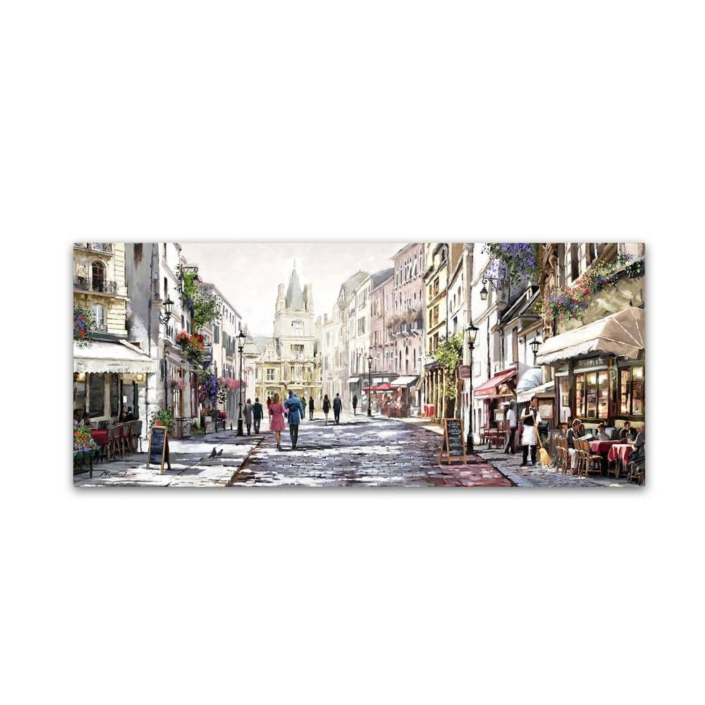 Trademark Fine Art 14 In X 32 In Sunlit Street By The Macneil Studio Printed Canvas Wall Art Ali9029 C1432gg The Home Depot