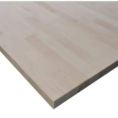 1.5 in. x 1-1/2 ft. x 7 ft. Allwood Birch Butcher Block Project Panel Table/Island Top