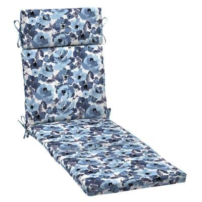 21 in. x 29.5 in. Outdoor Chaise Lounge Cushion in Garden Delight