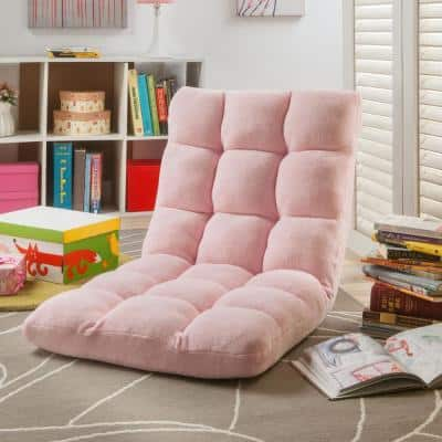 Microplush Light Pink Quilted Folding Gaming