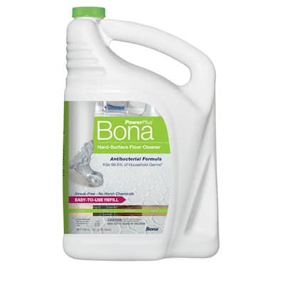 PowerPlus 128 oz. Hard-Surface Antibacterial Floor Cleaner Refill