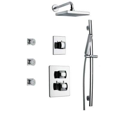 Lady Shower Combo 7 in Chrome