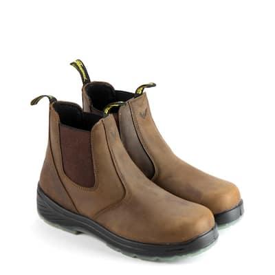 Men's Thoro-Flex 6 in. Soft-Toe Quick Release Boot Crazyhorse leather with translucent Non-Slip Bottom