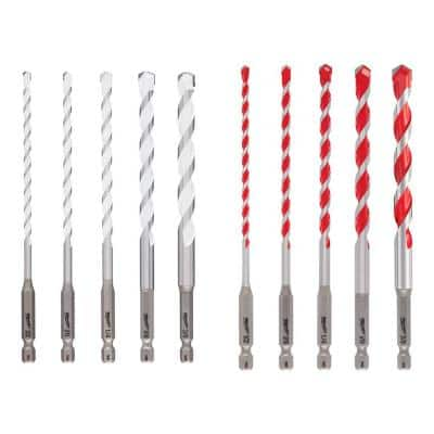 SHOCKWAVE Carbide Multi-Material Drill Bits Set (10-Pack)