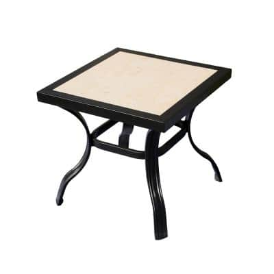 20 in. Square Metal Outdoor Bistro Coffee Table