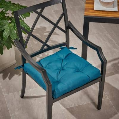 Navagio 19 in. x 3.15 in. Outdoor Fabric Classic Tufted Chair Cushion in Dark Teal