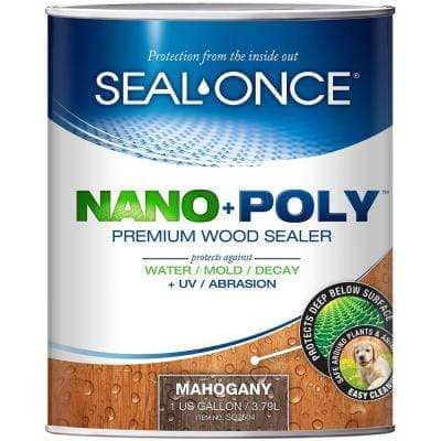 Seal Once 1 gal. Mahogany Ready Mix Exterior Penetrating Wood Stain and Sealer with Polyurethane