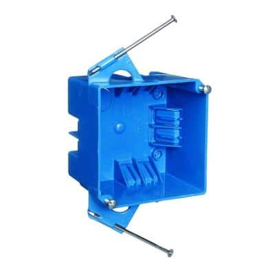 2-Gang 4 in. Square New Work Electrical Wall Box