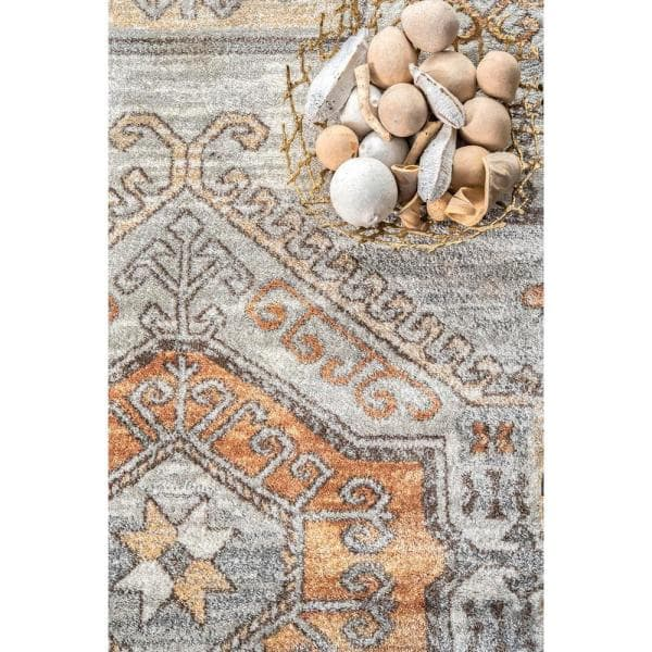 Nuloom Castle Sun Tribal Orange 8 Ft X 10 Ft Area Rug Rzab13a 8010 The Home Depot