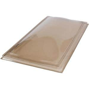 22-1/2 in. x 46-1/2 in. Polycarbonate Fixed Curb Mount Skylight