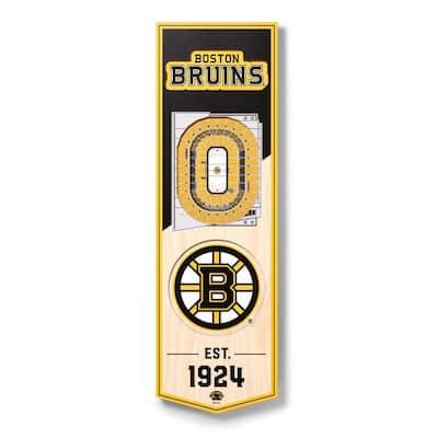NHL Boston Bruins 6 in. x 19 in. 3D Stadium Banner-TD Garden