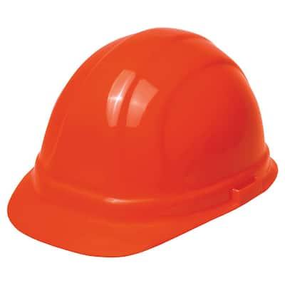 Omega II 6 Point Nylon Suspension Slide-Lock Cap Hard Hat in Hi Viz Orange