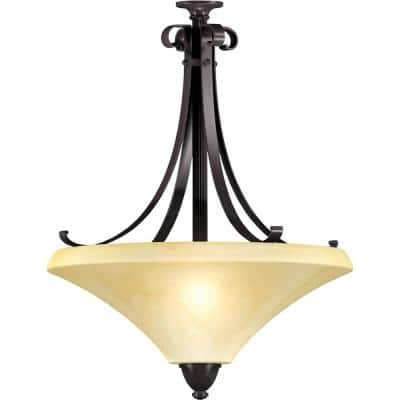 Swain 3-Light Oil-Rubbed Bronze Large Pendant