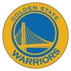 NBA Golden State Warriors Gold 2 ft. x 2 ft. Round Area Rug