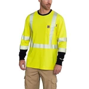 Men's Regular Medium Brite Lime FR High Vis Force Long Sleeve T-Shirt
