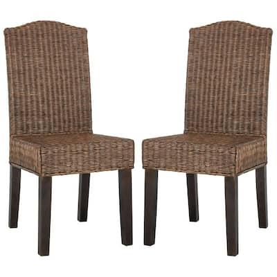 Odette Wicker Chair in Brown Multi (2-Pack)
