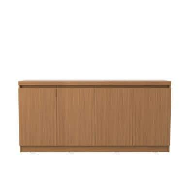 Viennese 62.99 in. 6-Shelf Maple Cream Buffet Cabinet