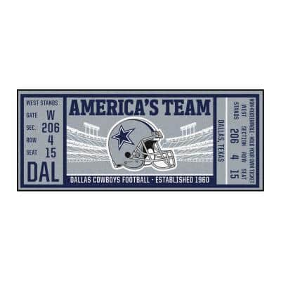 NFL - Dallas Cowboys 30 in. x 72 in. Indoor Ticket Runner Rug