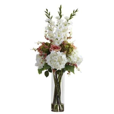 Giant Mixed Floral Arrangement in White