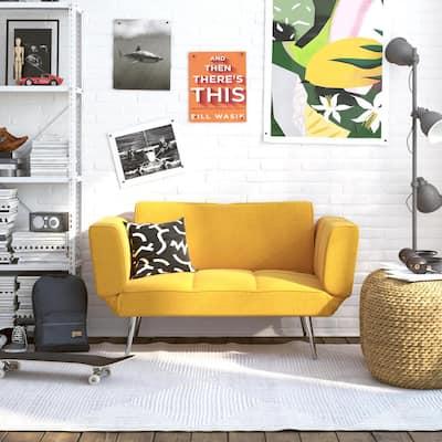 Euro Mustard Futon with Magazine Storage