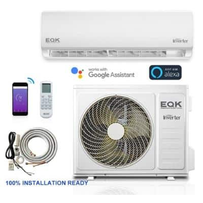 20 SEER 12,000 BTU 1 Ton Ductless Mini-Split Air Conditioner with Inverter, Heat, Remote, and Wi-Fi 115-Volt/60 Hz