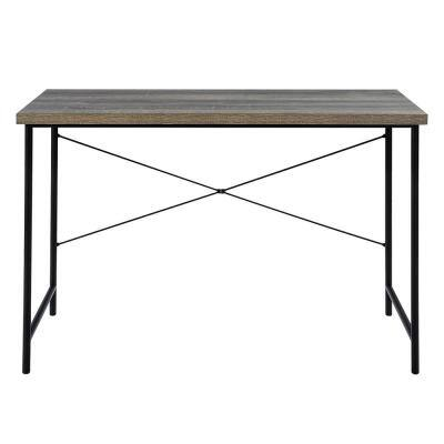 Dinah 47.24 in. W Brown Writing Desk with Black Base