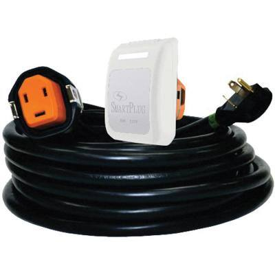 RV Power Cord with 30 Amp Non-Metallic Inlet - 30 ft. Length, White Inlet