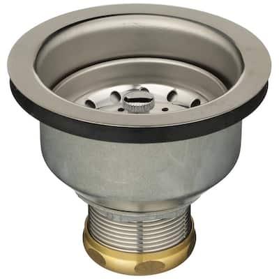 Basket Strainer with Brass Slip Nut and Zinc Locknut