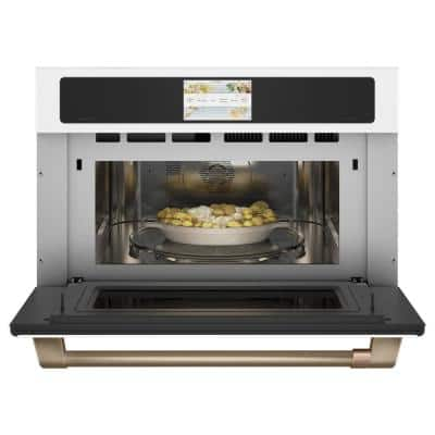 30 in. 1.7 cu. ft. Smart Electric Wall Oven and Microwave Combo with 240 Volt Advantium Technology in Matte White