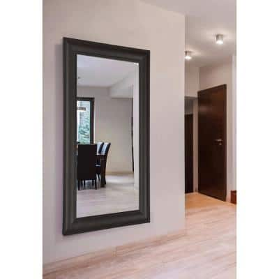 Oversized Rectangle Dark Walnut Modern Mirror (77.5 in. H x 38.5 in. W)