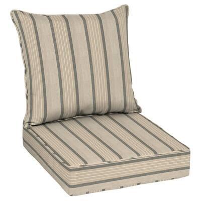 Oak Cliff 24 x 24 Sunbrella Cove Pebble Deep Seating Outdoor Lounge Chair Cushion