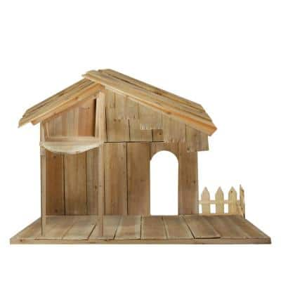 51 in. Wood Christmas Nativity Stable
