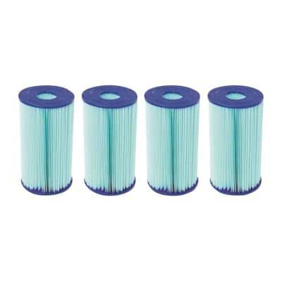 5.6 in. Dia 14 sq. ft. Type IV/B Pool Replacement Filter Cartridge (4-Pack)