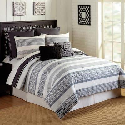 Deco 7-Piece Stripe Comforter Set