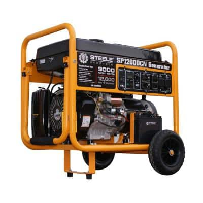 9,000-Watt Electric Start Gasoline Powered Portable Generator CARB Approved