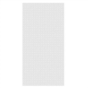 4 ft. x 8 ft. White Privacy Square Vinyl Lattice - Framed