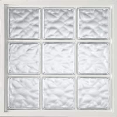 47 in. x 47 in. Acrylic Block Fixed Vinyl Window in White
