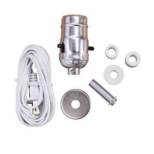 Brushed Nickel DIY Make-a-Lamp Bottle Adaptor Kit