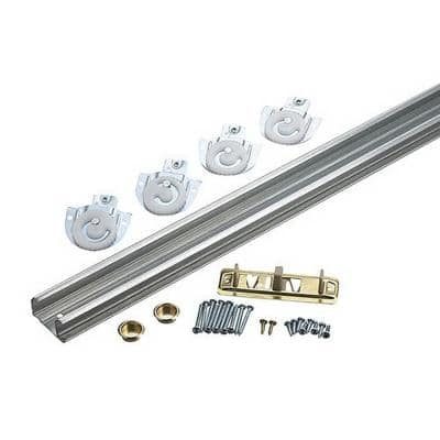 72 in. Steel Bypass Door Hardware Kit