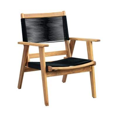 Kingsmen Wood Outdoor Lounge Chair with Arms