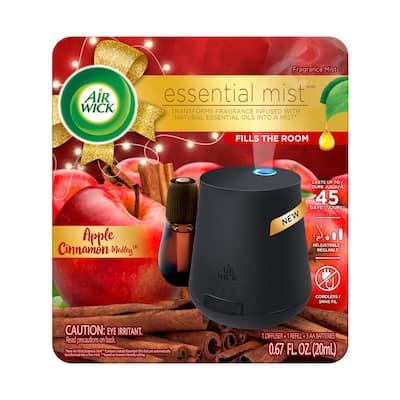 Essential Mist 0.67 fl. oz. Starter Kit Apple Cinnamon Automatic Air Freshener Diffuser with Refill