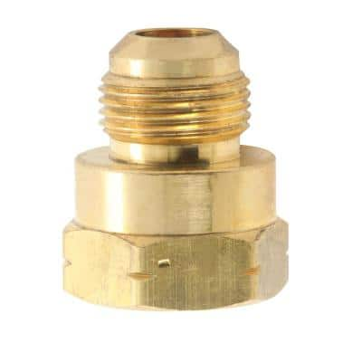 3/8 in. Flare x 3/8 in. FIP Brass Adapter Fitting