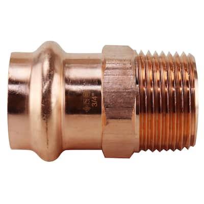 3/4 in. x 3/4 in. Copper Press x MPT Male Adapter
